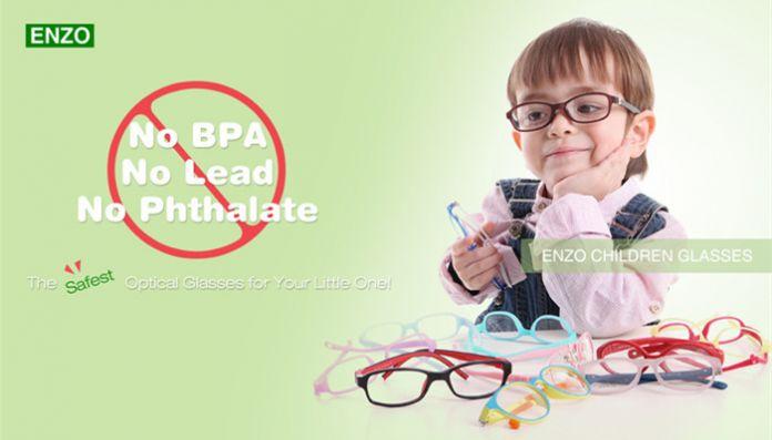 Девочка в мальчика очки с мозга нет винт, Цельный гибкая малышей, Сгибаемыми дети очки, Детские очки кадр