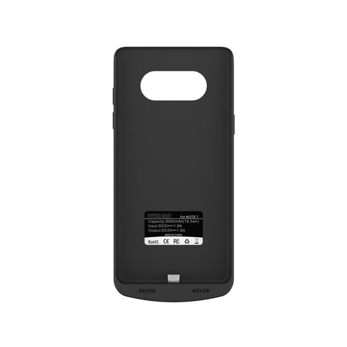 Новое Прибытие 5000 мАч резервного копирования power bank чехол для Samsung Galaxy Note 7 мягкий край кремния зарядное устройство чехол