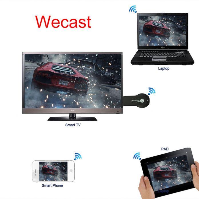 Wecast Резервирования Беспроводной Wi-Fi hdmi TV Dongle Ezcast Airplay Адаптер Для iPhone 6 ПЛЮС 5S SE Samsung S5 Примечание 4 5 S7 S6 Edge HTC