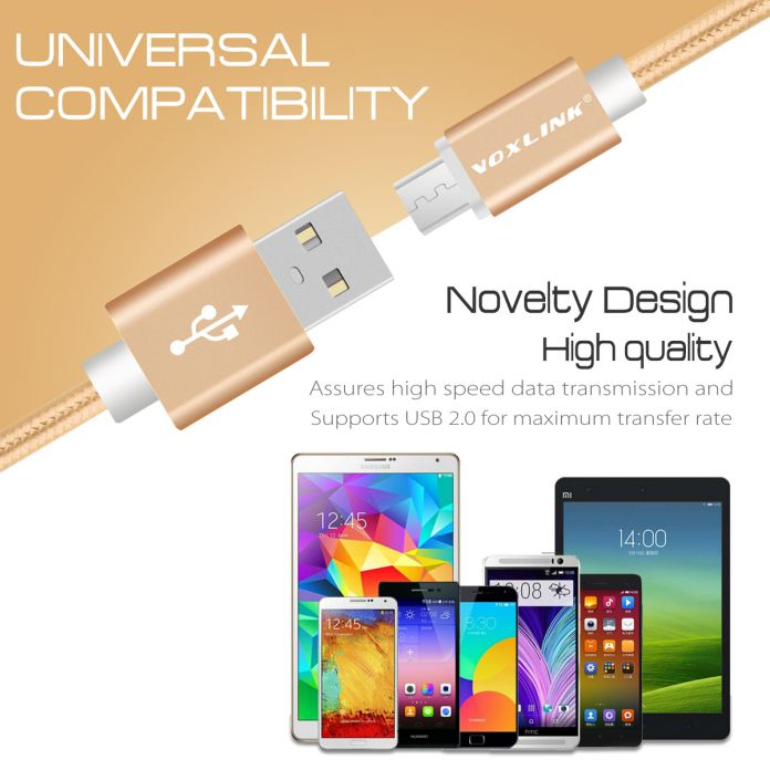 VOXLINK Micro 8pin 30pin Тип C USB Зарядный Кабель Синхронизации Данных шнуры Для iPhone 4s 5s 6 s Samsung S7 Huawei P9 LG G5