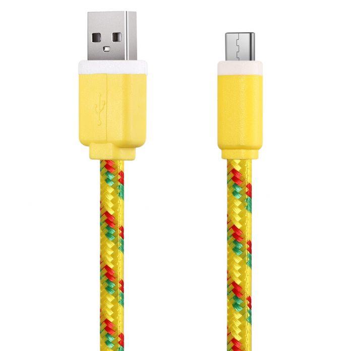 1 М 3 м 2 м Тип C для USB Нейлон Плетеный USB 3.1 Type-C Передачи Синхронизации данных Зарядный Кабель Шнур Линия для Huawei P9 LG G5 OnePlus 3