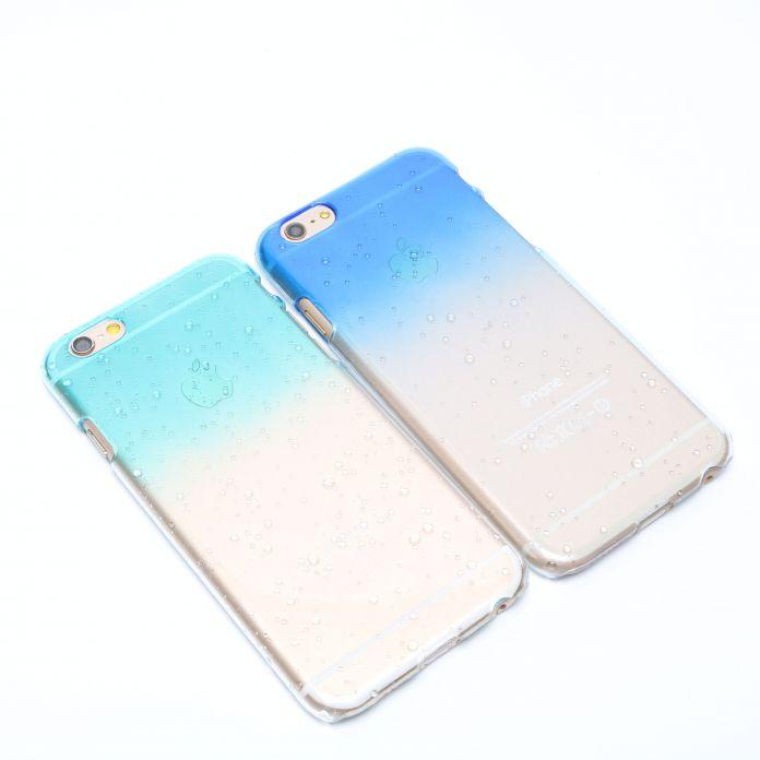 Телефон Защитной Оболочки Свежий 3D Капли Дождя Водослива Градиент Случаи Обложка Для Iphone 5 5S Чехол Для Iphone 6 6 плюс 7 7 плюс Случае