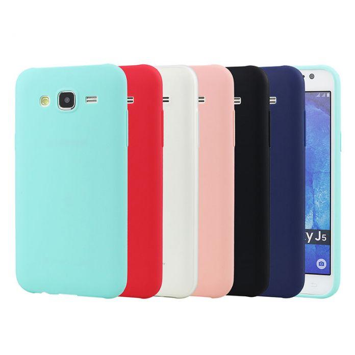 Для Samsung Galaxy J5 Твердые Конфеты Цвет Тпу Резиновая задняя Крышка для Samsung J5 2016/2015 Силиконовый Чехол Глянцевая
