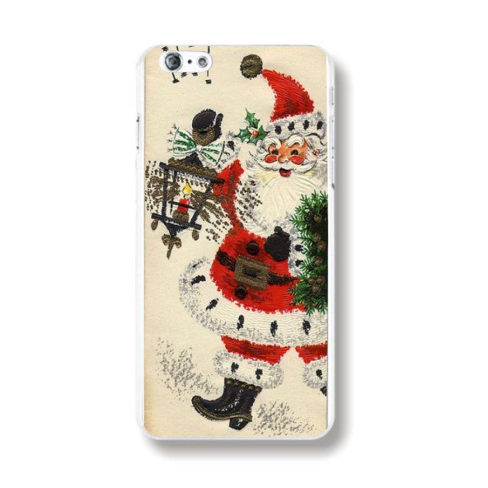 Для Apple iPhone 5S 6 Новогодние Подарки Новый Рождественские Подарки Санта-Клаус Pattern Чехол EC482/EC483