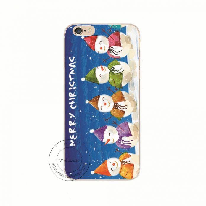 Новое поступление мода рождество новогодние подарки рождественская елка снеговик жесткий защитная крышка чехол для Apple , iPhone 6 6 S