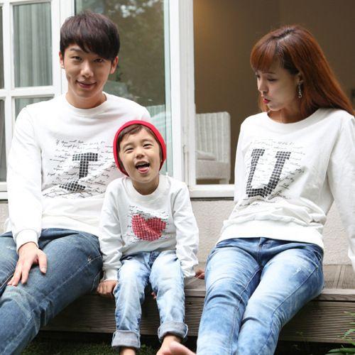 Семьи соответствующие одежда осенняя одежда для матери, Малыш и отец с длинными рукавами футболка родитель - ребенок я люблю тебя семья одежда