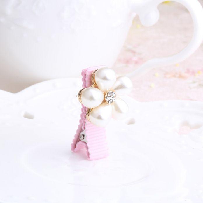 1 шт. новый ребенок заколки корона жемчуг шпильки детей аксессуары для волос защита хорошо завернутый с бантом с жемчугом принцесса шпильки