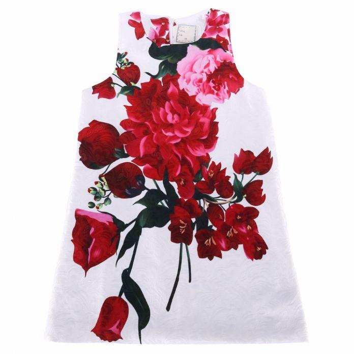 Девушка летнее платье в стиле 2015 новое дети платья для девочек одежда фрукты цветочный принт новорожденных девочек платья детская одежда