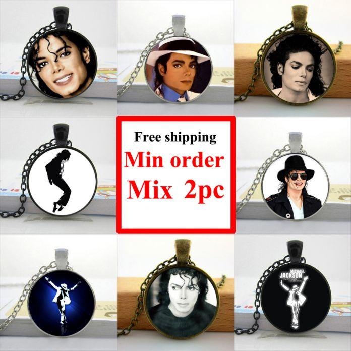 Оптовая Майкл Джексон Ожерелье Moonwalk Долго Подвеска Поклонники Любимой Марки Звезда Стеклянным Куполом Ожерелье