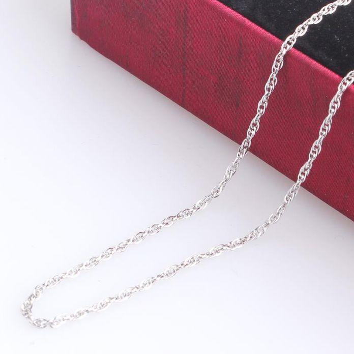 1 мм ширина круг о-кольцо слово цепочки длина 50 см из нержавеющей стали 316L ожерелье мужчины женщины ювелирные изделия оптовая продажа