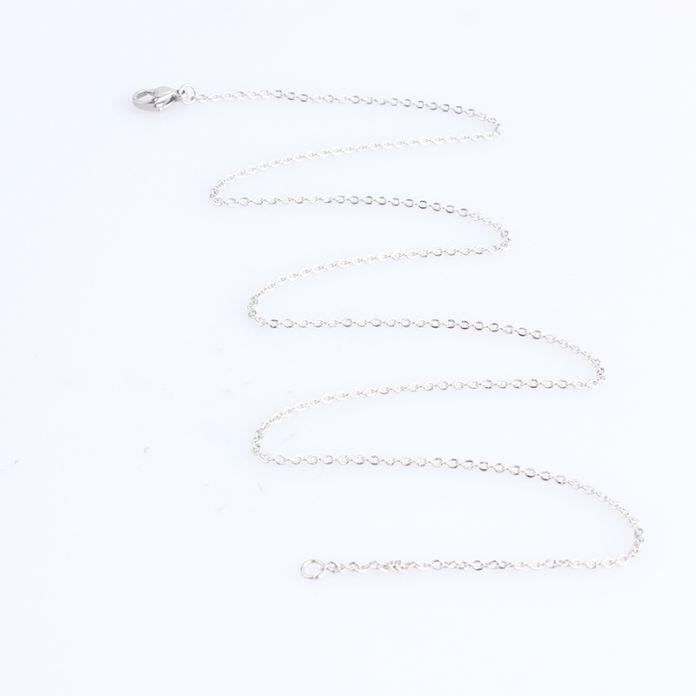 1.5 мм ширина 0 слово цепочки длина 50 см из нержавеющей стали 316L ожерелье мужчины женщины ювелирные изделия оптовая продажа