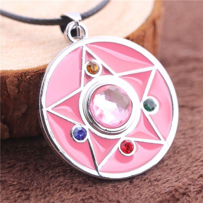 Розовый Цвет Кулон Высокое Качество Сейлор Мун Ожерелье Питания Магия Пентакль Ожерелье Sailor Moon Ювелирные Изделия Милый Подарок Для Девочки