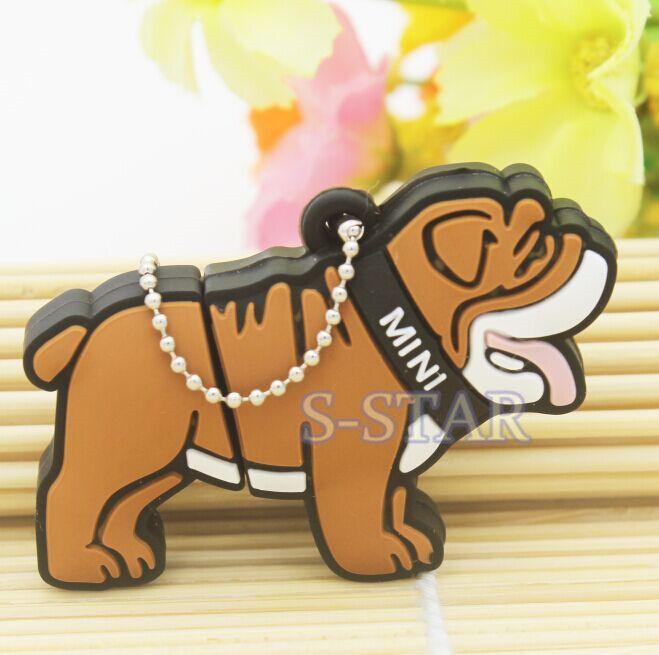 100% Реальная емкость Прекрасный Мультфильм большой Бык собака памяти usb 2.0 stick usb flash drive pendrives pen drive 4 ГБ 8 ГБ 16 ГБ 32 ГБ
