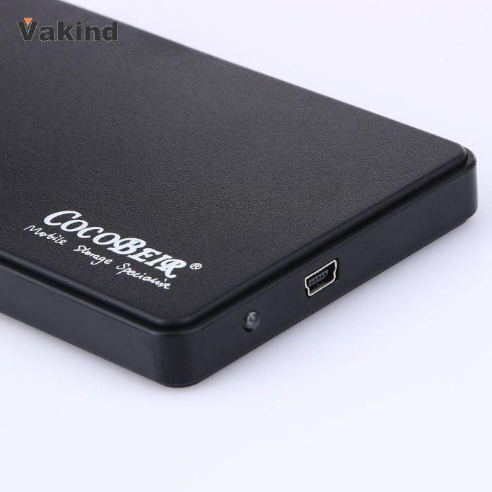 Высокое Качество Тонкий Портативный 2.5 Дюймов HDD Корпус USB 2.0 Внешний жесткий Диск Случае SATA Жесткие Диски HDD Корпус с USB кабель