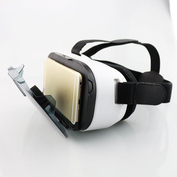 Fiit 2N очки VR 3D Очки Виртуальной Реальности Гарнитура vrbox глава Гора Видео Google Картонный Шлем Для '-6' телефоны + пульт дистанционного управления