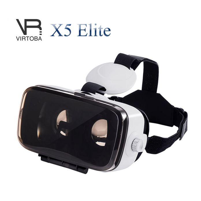 Virtoba X5 Элитный Захватывающие 3D Очки Виртуальной Реальности Гарнитура IPD Регулируемый Фокус 120FOV VR Гарнитура для 4-6 Дюйм(ов) смартфоны