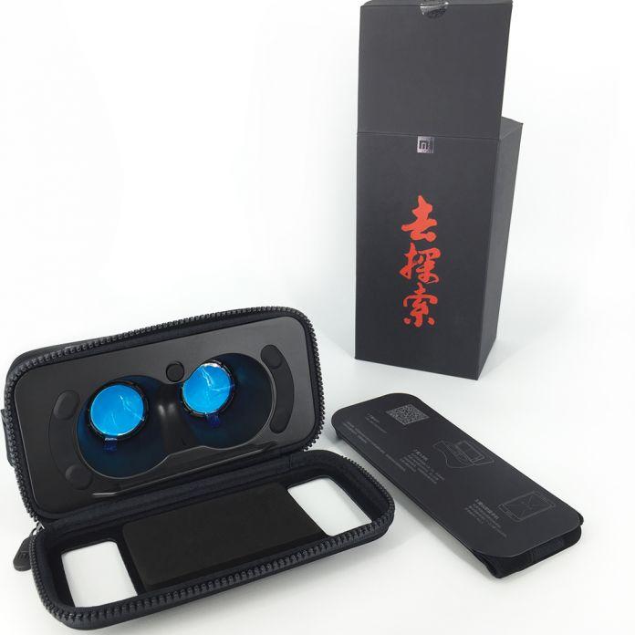 Оригинал Xiaomi Mi VR Коробка Гарнитура 3D Очки Виртуальной Реальности картон MI VR Относится к Apple iphone sumsang 4.7 ~ 5.7 Smart телефон