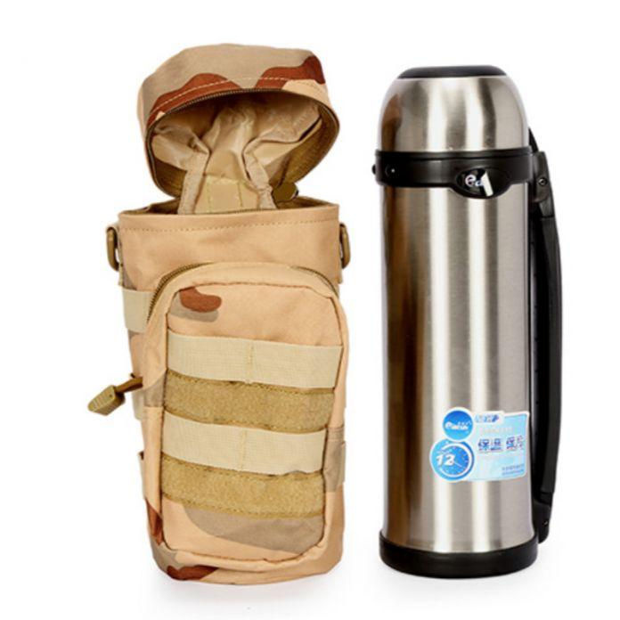 Военные Molle Тактические Столовой Мешок Спорта На Открытом Воздухе Отдых Туризм рыбалка Портативный Бутылка Мешок