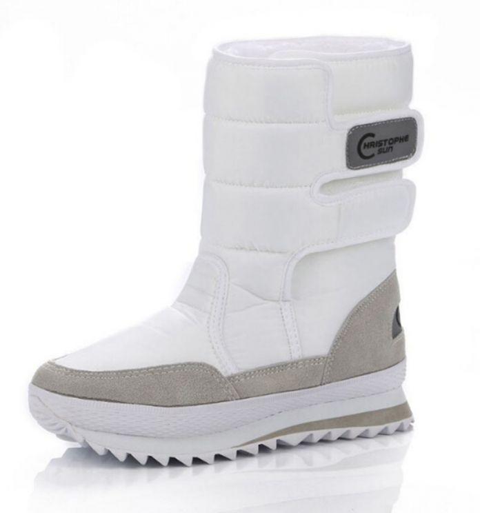 2016 Рождественские подарки женщины зима мужчин сапоги снега сапоги обувь для Санта-Клауса цвет белый снег плюс размер США горячей. ZYMY-xz-29
