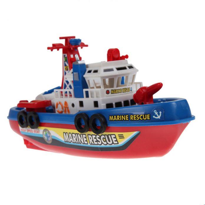 Электрические Лодки Пластиковые Пожарный Катер Дети Электрические Игрушки Навигация Номера для дистанционного Корабль для Коллекции Мебель Развлечения Подарки