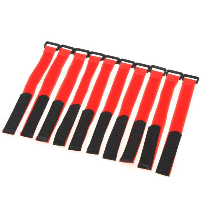 10 Шт. Сильный RC lipo Батареи Противоскользящие Кабельных Стяжек Ремни 26*2 см