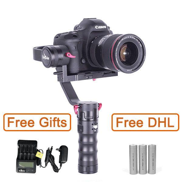 Бесплатные DHL Beholder DS1 DSLR Бесщеточный Gimbal 3 Оси Ручной Стабилизатор Gimbal 32bit Поддержка Canon 5/6/7D PK MS1 Туманность 4200