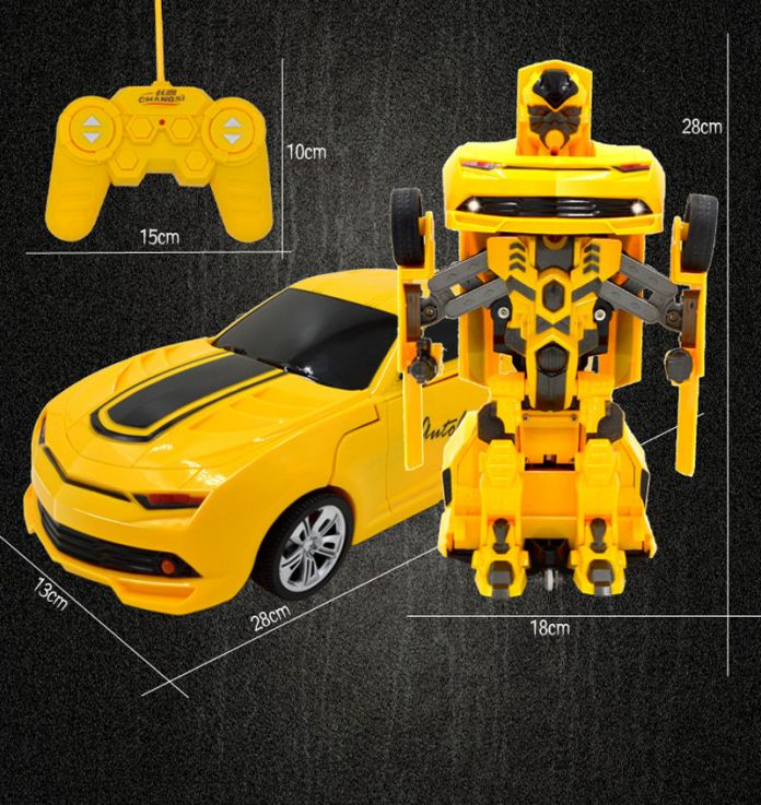 Фигурку RC преобразования игрушки одним из ключевых дистанционного управления автомобилем шмель большой размер 360 вращающийся подлинной голос зарядное устройство USB