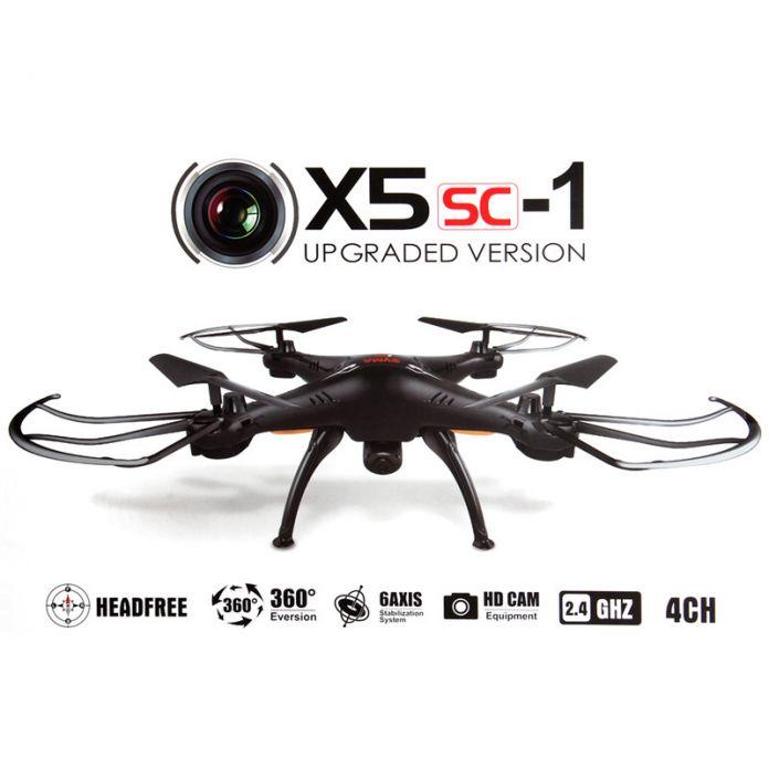 Новая Версия Сыма X5SC-1 Черный Сокол HD Камера 4 канал 2.4 Г RC Quadcopter 6 Ось 3D Флип Летать 360 Градусов Eversion