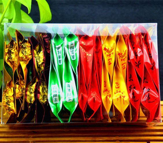 Премиум 24 шт. 6 Различных Вкусов Китайский Молоко Улун Dahongpao Черный Чай, жасминовый Чай Gree Пищу Для Здравоохранения