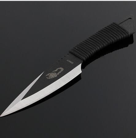 Карманный Нож Тактический Фиксированным Лезвием Нож Выживания Открытый Охота Отдых На Природе Ножи Нож инструменты + Оболочка 3 шт./компл.