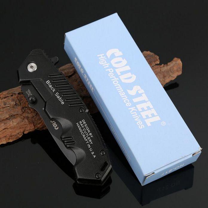 Jeslon Холодное ОРУЖИЕ HY217 Складной Нож Портативный самооборона Бутик Походный Нож 7Cr17Mov Выживания Небольшой Тактический Нож