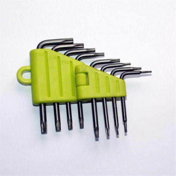 Новый 8 в 1 Набор Отверток T5 T6 T7 T8 Т9 Т10 Т15 T20 Звезда Ключ Ящик для Инструментов