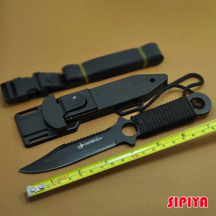 Высокое Качество Нержавеющей Стали Нож Выживания Фиксированным Лезвием Ножа Открытый самооборона Дайвинг Kinfe Охотничьи Ножи + Пластмассовая Оболочка