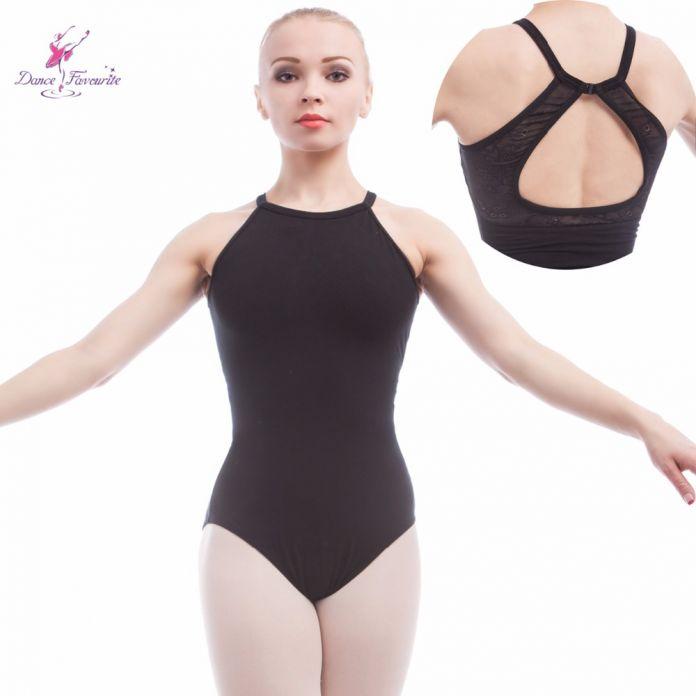 Взрослые балетные трико черный хлопок спандекс гимнастика купальник для танцев, балерина балета камзол боди корректирующее белье