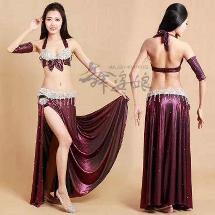 2016 Newest танец живота племенные костюмы высокое качество bellydancing египет наряд для женщин танцоры S / M / L 4 цветов