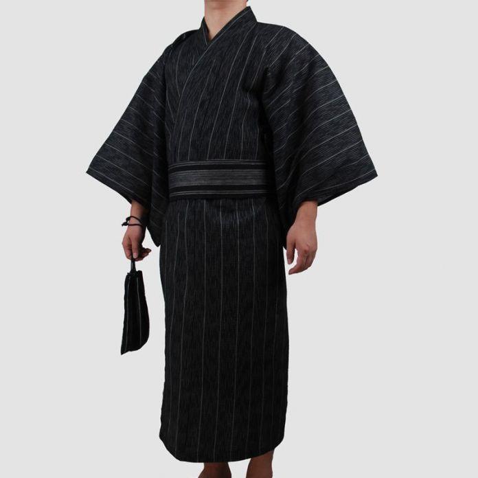 3 шт./компл. Кимоно костюм Традиционный Японский Мужской Кимоно с Оби Пояс мужской Хлопок Банный Халат Юката мужские Кимоно пижамы 82807
