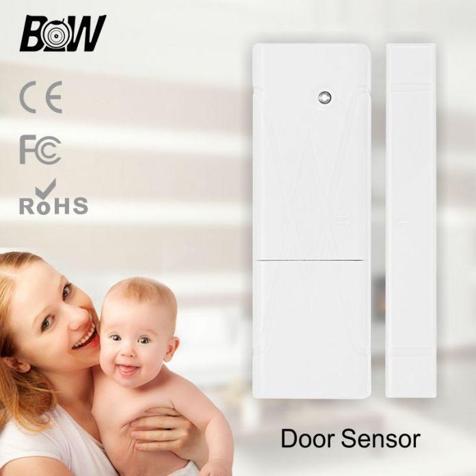 Системы видеонаблюдения POE IP Камера С Датчик Двери Сигнализация Беспроводной Микрофон Инфракрасная Камера Пульт Дистанционного Управления Baby Monitor BW014