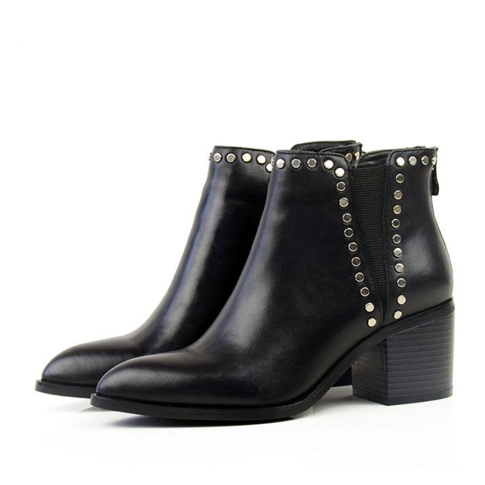 Донна в новые стили одиночные ботинки указал квадратный каблук корова кожа женщин короткие сапоги