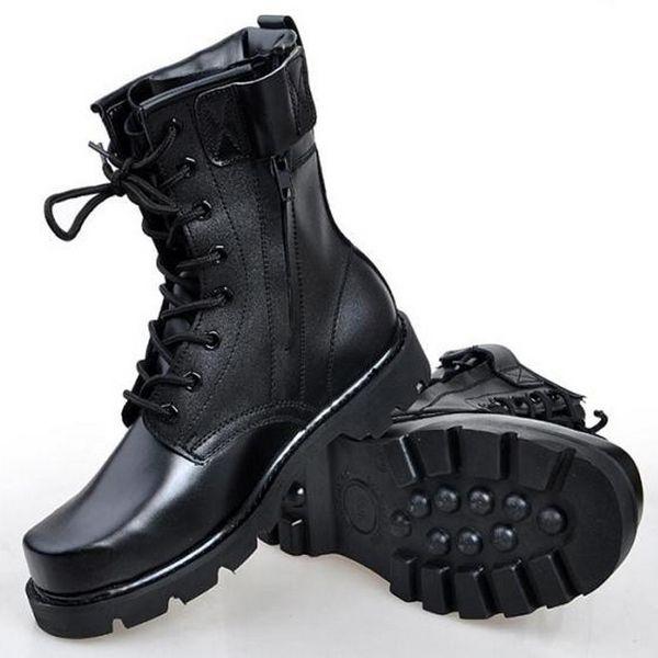 Мужчины Сапоги Зимние Недавно Военные Военные Ботинки Походные Ботинки Платформа Высокий Верх нескользящие босоножки Кроссовки Ботильоны Черный