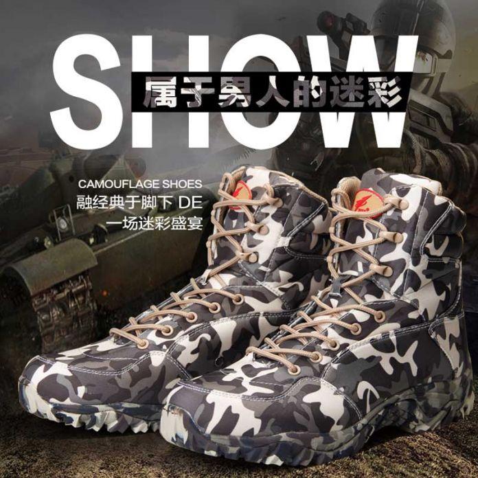 Весна И Осень Новый Мужчины армейские Ботинки Коммандос Военные Сапоги Тактический Камуфляж, Сапоги Непромокаемые Сапоги Обувь