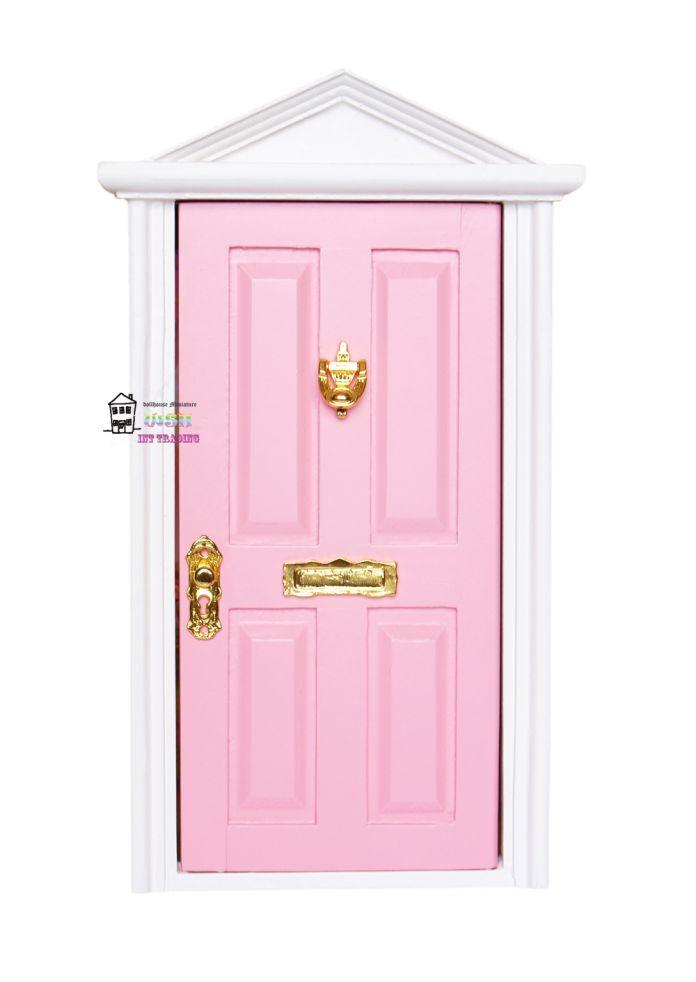 1:12 Кукольный миниатюрный Фея Дверь Светло-Розовый Снаружи открыть Куклы Частей Мода Подарок 3 Стиль Аппаратных аксессуаров