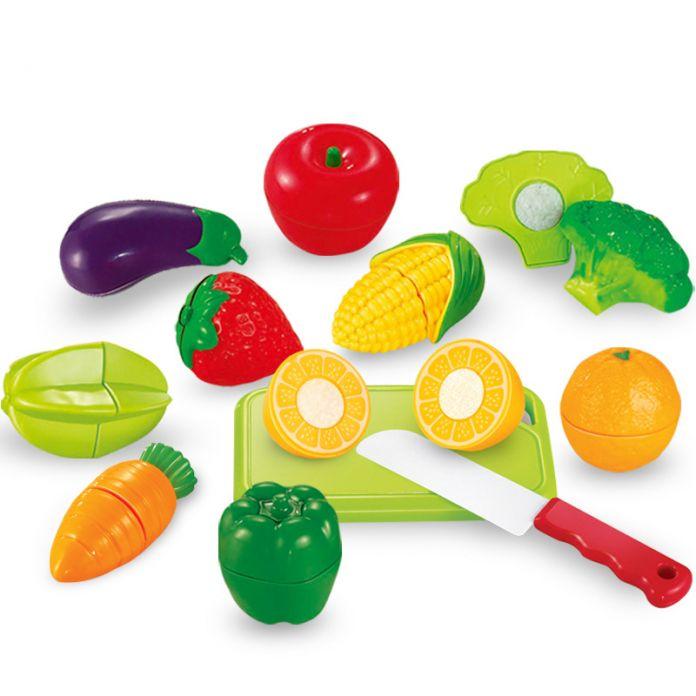 Minitudou 12 ШТ. Миниатюрные Питания Фрукты Из Пластика, Игрушки Кухня Для Детей Играть Кухонный Гарнитур