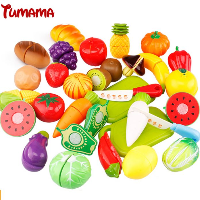 Tumama 8 Шт./компл. Игры Игрушки для Детей, Детское Питание Пластиковые Хобби игрушки кухня для детей Фрукты и Овощи