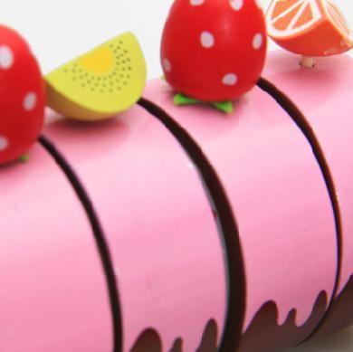 Бесплатная Доставка! Игрушки для Маленьких детей Мать Сад Играть Пищевой Деревянные Шоколадный Торт Mix Кухонный Гарнитур Игрушки Играть Притворись Игрушки Подарок