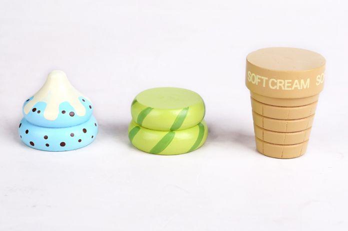 Красочные Мороженое Питание Кухня Игрушки Детские Игрушки Кухня Магнит Дети Деревянные Игрушки Играть Дома Игрушки Подарок Для Девочки