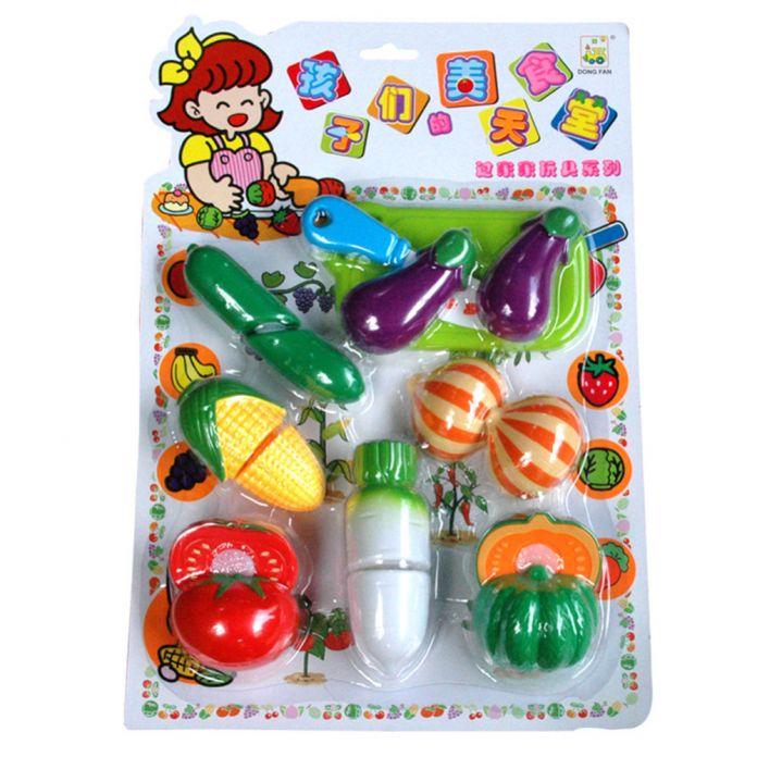 Дети Кухня Игрушки АБС Пластик Смешно Притворяться, Играть Еды Кухни Игрушки Играть Резки Фрукты Овощи Для Детей Kids Подарок
