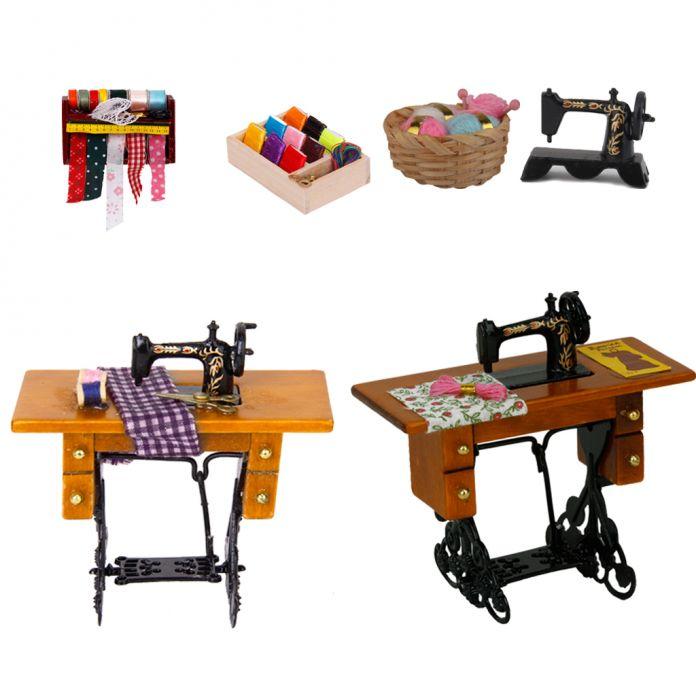 Новый Горячий 1:12 Кукольный Миниатюрный Черный Швейная Машина Классический Притворись Играть Мебель Игрушки Творческие Подарки Дети Подарки