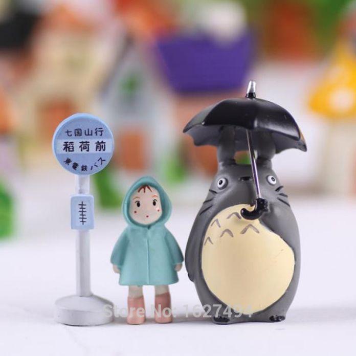 Studio Ghibli Игрушки Мой Сосед Тоторо Хаяо Миядзаки Сяомэй Куклы ПВХ Фигурку Японского Аниме Фигурки Статуэтки, Игрушки Для Детей