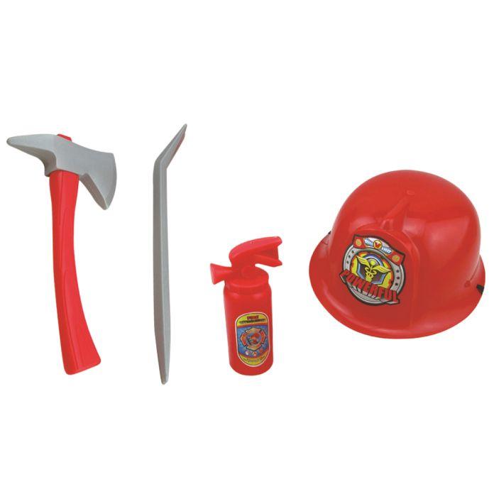 Пожарный Костюм Пожарника Ролевая Игра Игрушка Мальчики Hat Топор Лом Огнетушитель Комплект