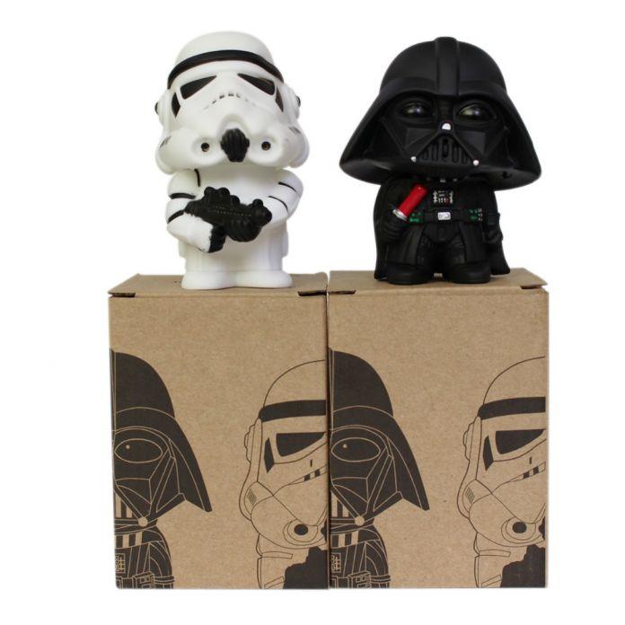 2016 2 шт./лот 10 см доставка-q стиль звездные войны дарт вейдер и штурмовик фигурку модель starwars игрушки детям подарок на день рождения